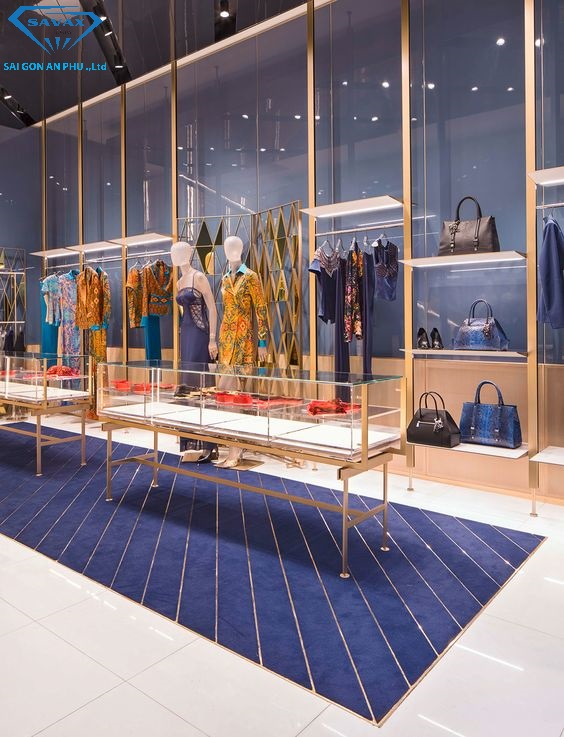 thi công inox cho shop thời trang