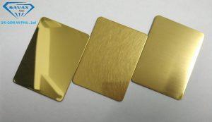 Mẫu inox mạ vàng gương, vàng xướt, vàng mờ