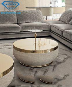Nhận thiết kế và gia công bàn sofa inox luxury