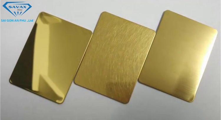 Tấm inox mạ vàng có bền không?