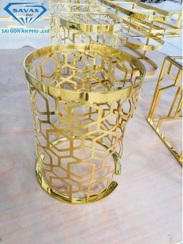 Mẫu chân bàn, ghế inox mạ vàng