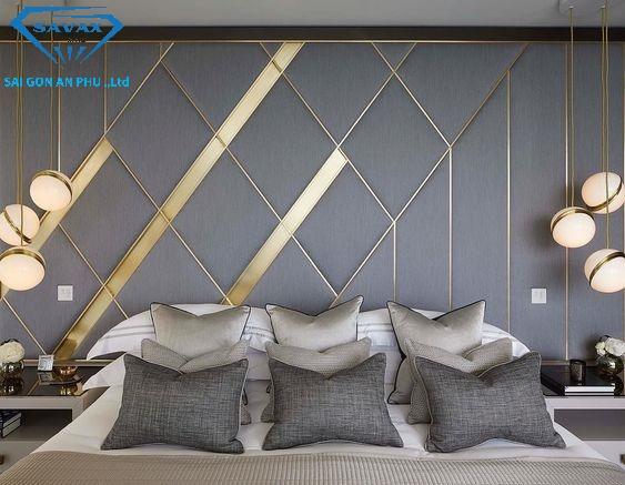 Mẫu nẹp trang trí tường phòng ngủ độc đáo