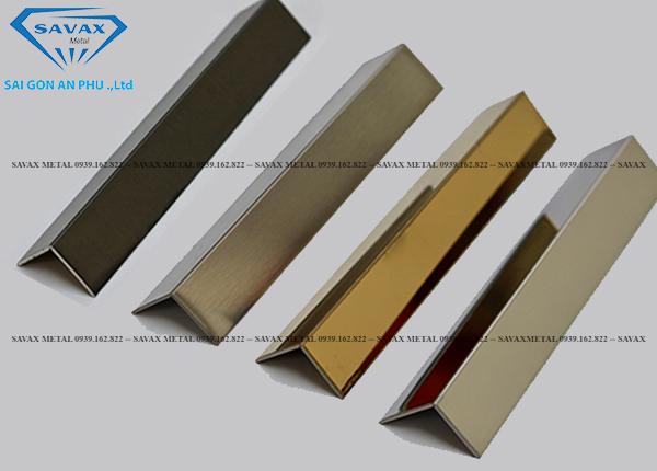 Mẫu nẹp V inox 304 mạ vàng