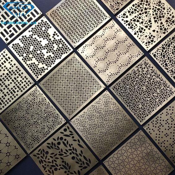 Các mẫu họa tiết inox trang trí từ gia công cắt laser kim loại