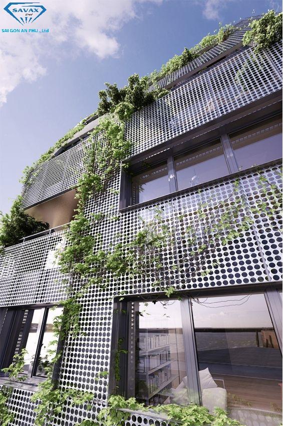 Sử dụng tấm inox dập lỗ chắn gió cho ngôi nhà